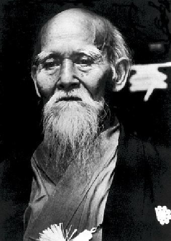 der Aikido-Gründer Osensei Morihei Ueshiba (1883-1969)