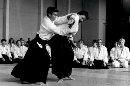 Moriteru Ueshiba, Stockholm 1989. Foto: Cattis Åsander.