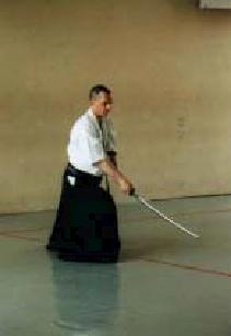 Stefan Stenudd, Berlin Tanden Dojo Lehrgang, 2000. Foto: Frank Weingärtner.