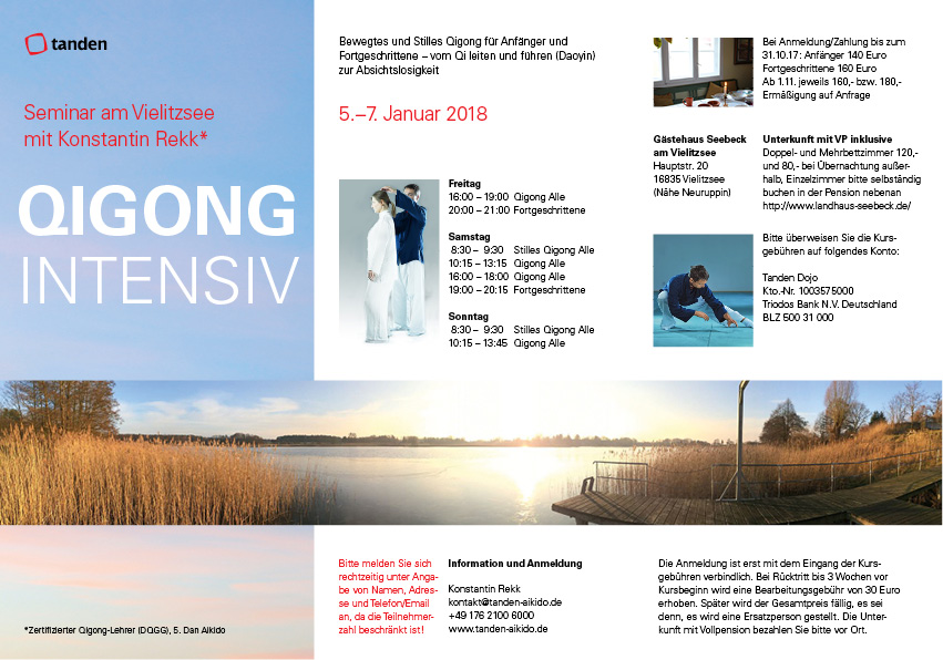 Flyer Qigong Intensiv Seminar Berlin/Vielitzsee Jan 2018