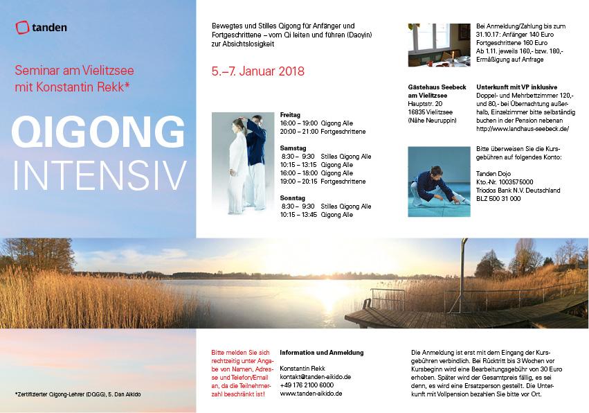 Flyer Qigong Intensiv Seminar Berlin/Vielitzsee Jan 2018