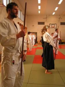 Übung Ausrichtung Stand Achse Aikido