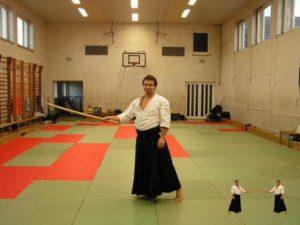 Aikido Schwert halten