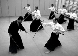 Toshikazu Ichimura, iaido, Järfälla 1973. Foto: Stefan Stenudd.