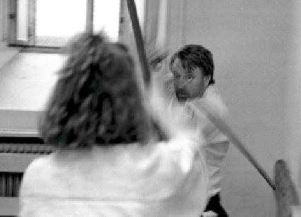 Claes Wikner, Stockholm. Bokken Training. Aiki-Ken. Foto: Magnus Hartman.