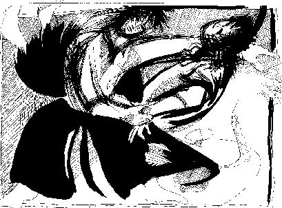 Mikael Eriksson, c. 1973. Aikido Technik Tenchi Nage Zeichnung.