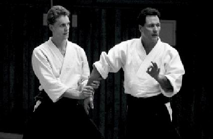 Christian Tissier. Aikido Angriffsform Ushiro Morote Dori Foto: Magnus Hartman.