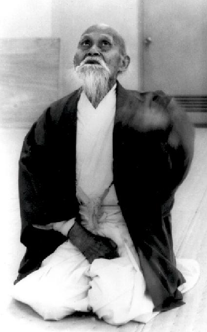 Osensei Morihei Ueshiba. Aikido Gründer. Foto: Yasuo Kobayashi.