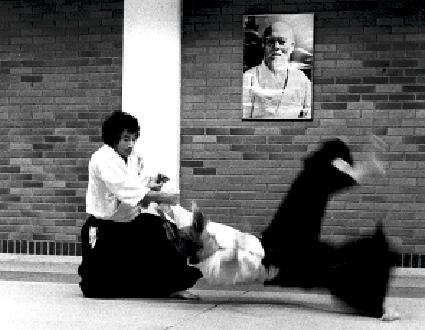 Toshikazu Ichimura. Foto: Magnus Hartman. Aikido Wurf.