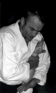 Lars Göran Andersson, Torsby.Foto: Jöran Fagerlund. Aikido Osae Waza Nikkyo.