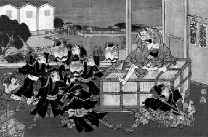 Chushingura, 47 ronin. Kuniteru (Sadashige) 1855.