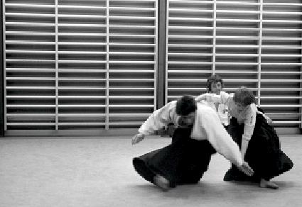 Järfälla 1973. Foto: Stefan Stenudd. Aikido Technik Irimi Nage.
