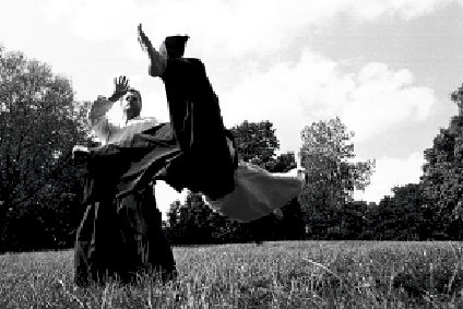 Åke Bengtsson, Stockholm. Foto: Magnus Hartman. Aikido Bewegung Wurf Fallen.