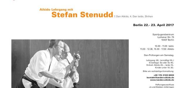 Flyer deutsch Aikido Berlin Seminar Stefan Stenudd 2017