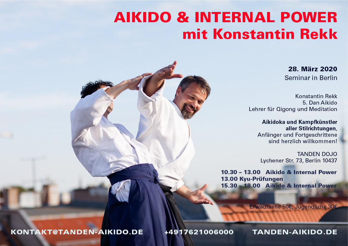 Aikido und Internal Power Seminar Berlin mit Konstantin Rekk