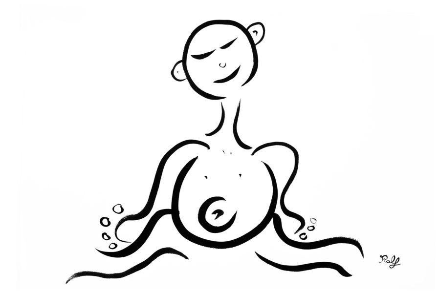 Happy Dantian - die Mitte, das Zentrum des Körpers, der Lebenskraft