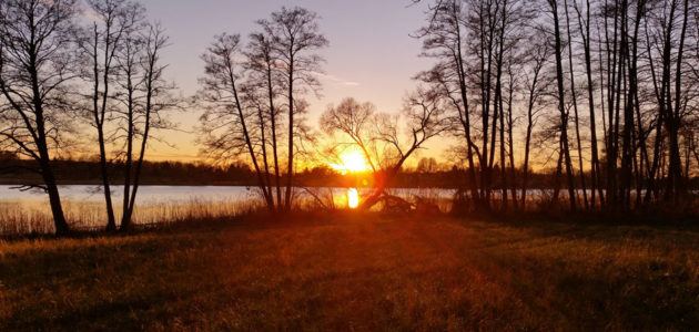 Sonnenuntergang am See - Impressionen vom Qigong Seminar am Vielitzsee