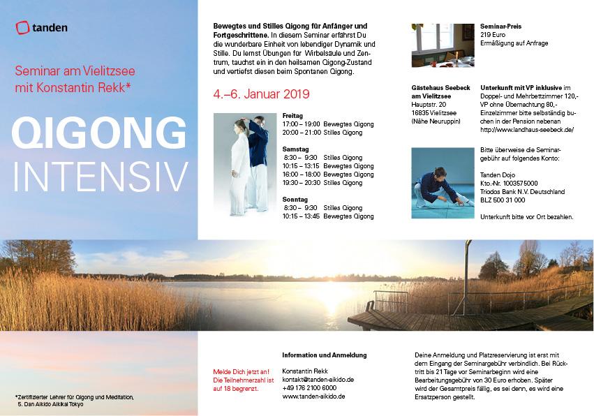 Qigong Seminar am Vielitzsee bei Berlin mit Konstantin Rekk 2019
