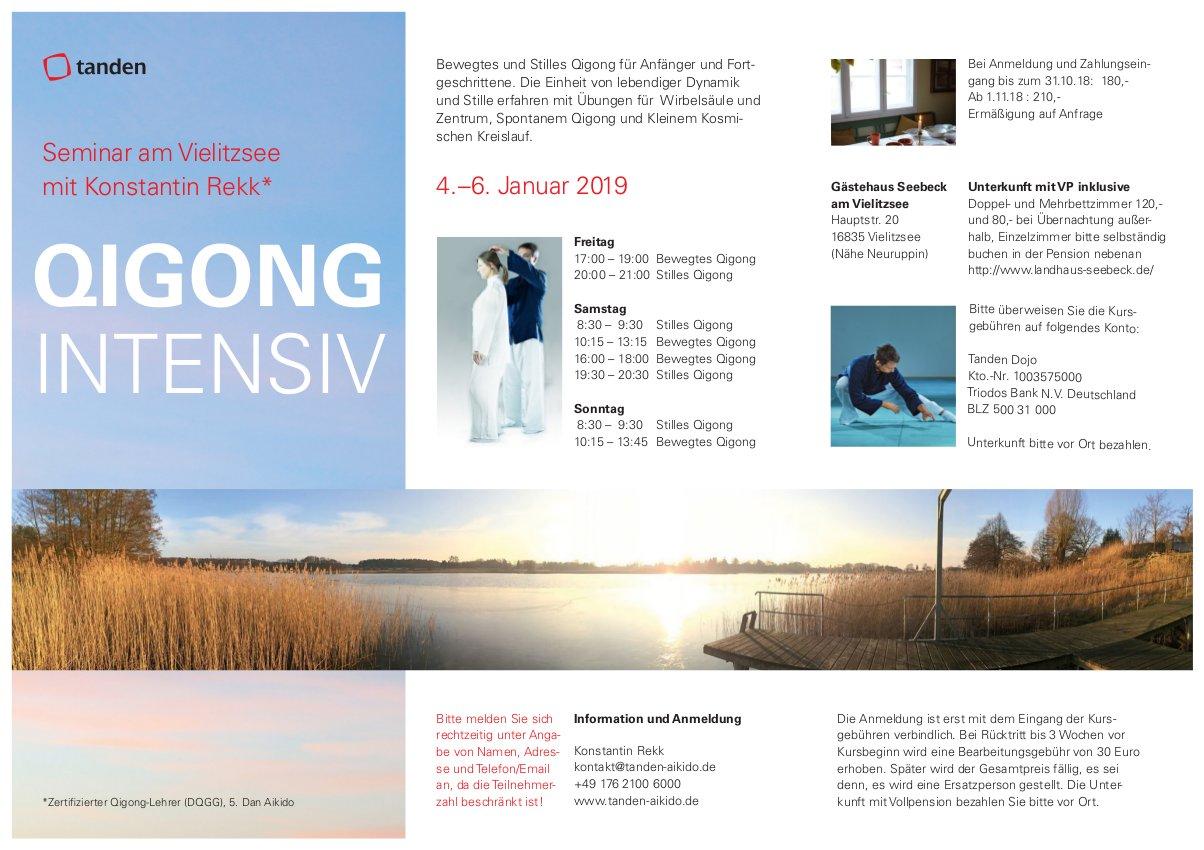 Flyer Qigong Intensiv Seminar Berlin/Vielitzsee Neujahr 2019